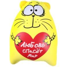 Антистрессовая игрушка Котэ с большим сердцем