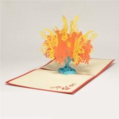 Объемная 3D открытка Цветущее дерево