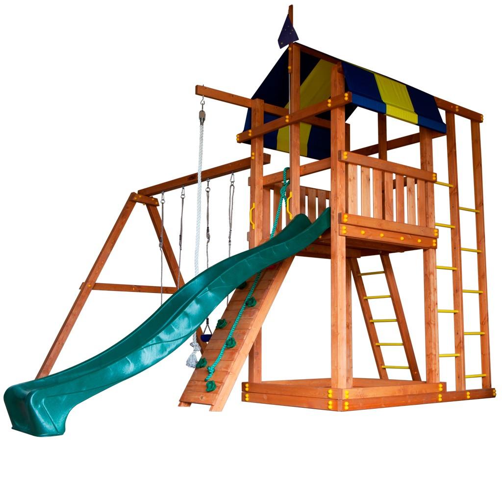 Детская игровая площадка для улицы из дерева Городок Аляска