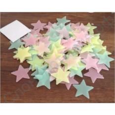 Разноцветные светящиеся звезды на потолке
