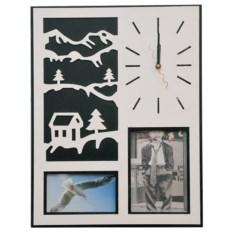 Часы-фоторамка Зимние пейзажи