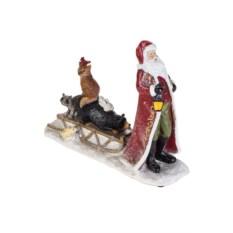 Новогоднее украшение Дед Мороз с лесными жителями