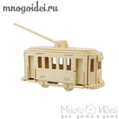 Деревянный конструктор 3D Трамвай