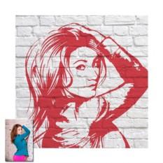 Женский поп-арт портрет с текстурным фоном