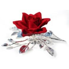 Комозиция Роза из фарфора