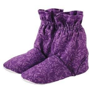Тапочки-грелки с узором, фиолетовые