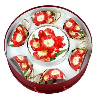 Подарочный набор чайный «Красный цветок»