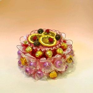 Букет из конфет «Торт фруктовый»