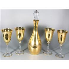Набор для вина (графин и 4 стакана)