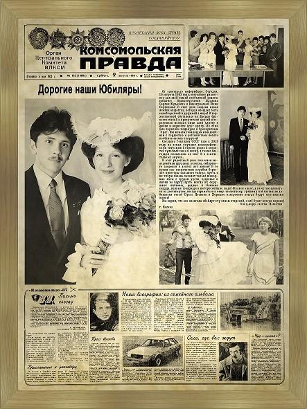 Старые газеты для поздравления 340