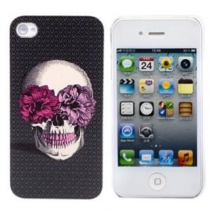 Чехол для iPhone 4/4S Flower Skull (коричневый)