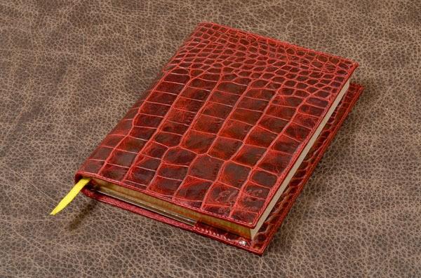 Красный кожаный ежедневник Elole Design
