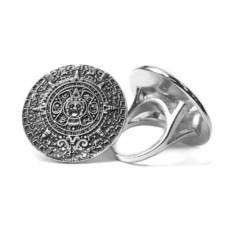 Кольцо из серебра Календарь (27 мм)