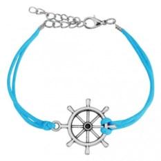 Голубой браслет со штурвалом