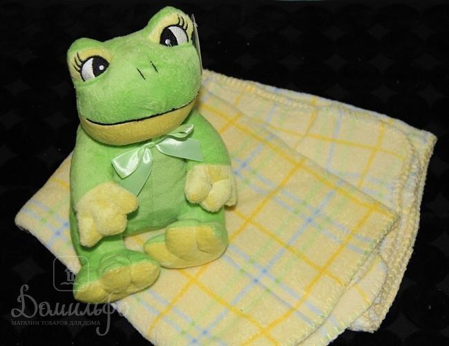 Плед детский с игрушкой Frog