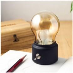 Настольная лампа-ночник с аккумулятором Bulb lamp