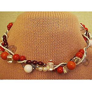 Ожерелье «Коралловый винт»