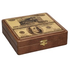Шкатулка для хранения денег «Рубли-Доллары»