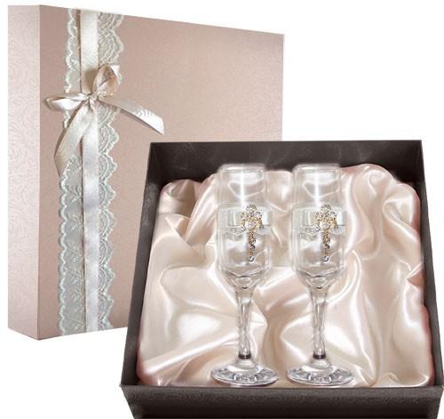 Набор свадебных бокалов №46 в подарочной коробке