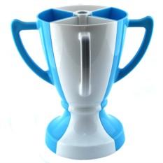 Бело-синий набор из 4 бокалов Кубок