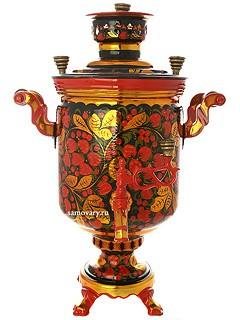 Самовар угольный с росписью Хохлома классическая