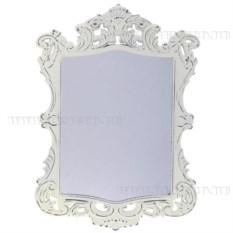 Декоративное настенное зеркало (цвет — белый)