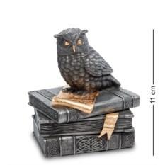 Шкатулка Мудрая сова на книгах