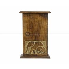 Ящик для ключей с изображением слонов