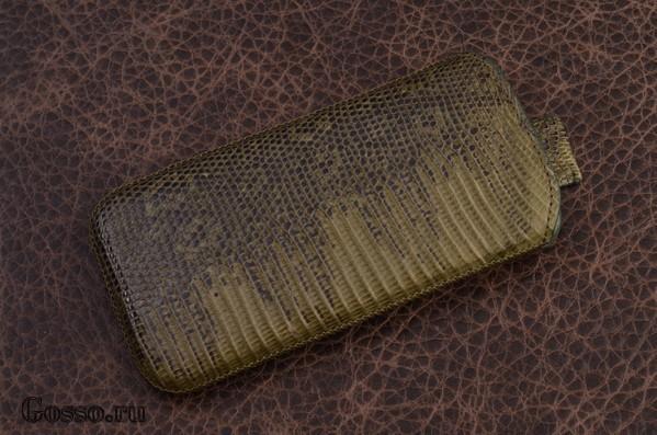 Чехол из кожи игуаны для iPhone 5 «Хризолитовая агама»