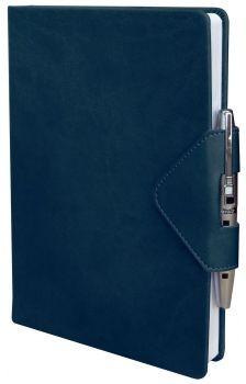 Датированный ежедневник Idea, с ручкой (синий)