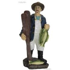 Фигурка Рыбак в шляпе с уловом