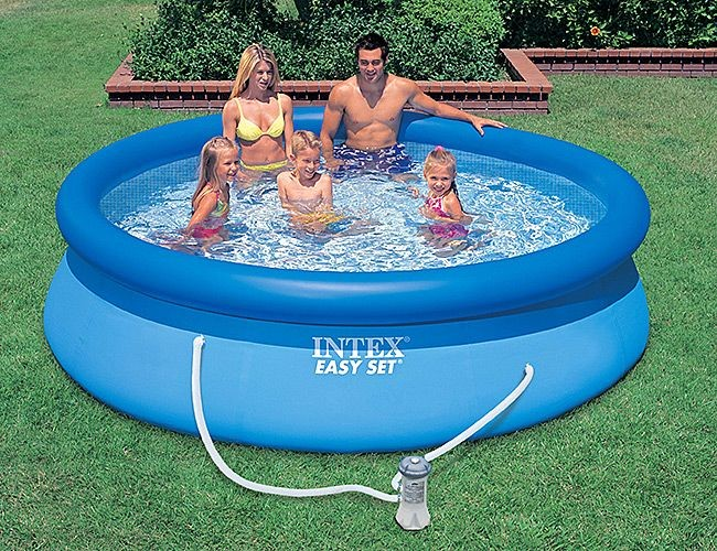 Надувной бассейн INTEX Easy Set Pool с фильтром-насосом