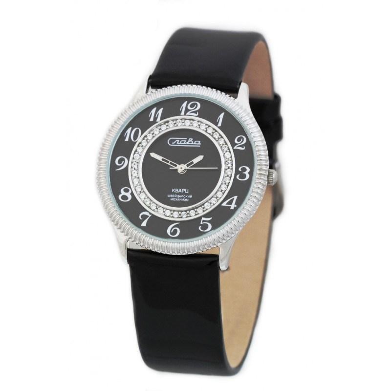 70b9558d Женские серебрянные кварцевые наручные часы