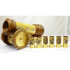 Подставка для бутылки Пушка + 6 стопок