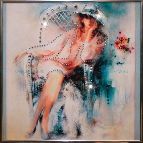 Картина с кристаллами Swarovski Незнакомка