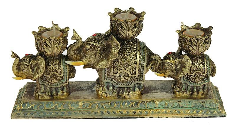 Подсвечник Три слона