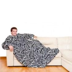 Плюшевый плед с рукавами Sleepy Wild Zebra