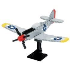 Конструктор Nanoblock Самолет P-51 Мустанг