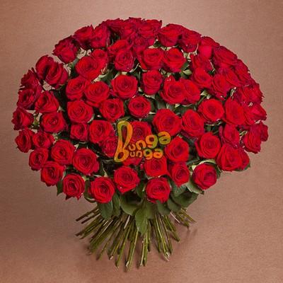 Веник из 101 красной розы