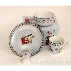 Детский набор посуды Клеточка