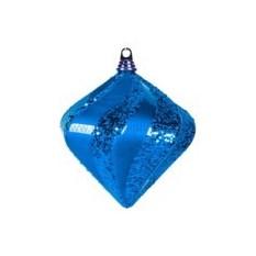 Елочная игрушка Алмаз синего цвета