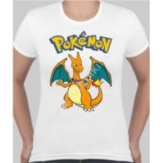 Женская футболка с покемоном Чаризард