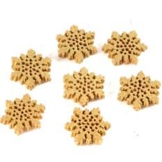 Набор аксессуаров для упаковки Золотые снежинки