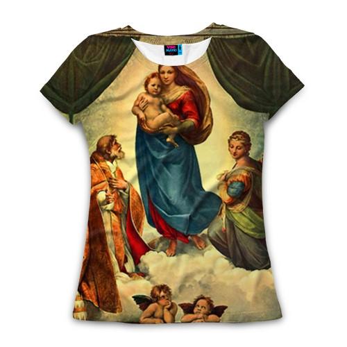 Женская футболка 3D с полной запечаткой Мадонна