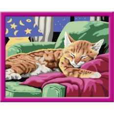 Раскраски по номерам Ravensburger Спящий котенок