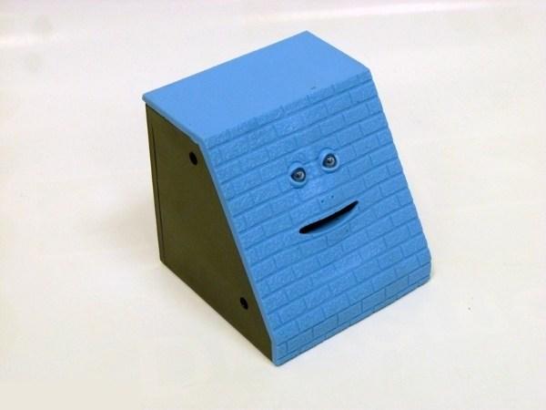 Интерактивная копилка Обжора (кирпич, синий)