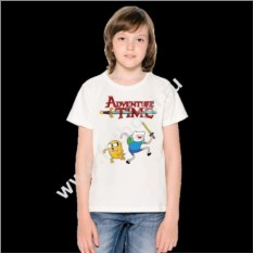 Детская футболка Финн и Джейк (adventure time)