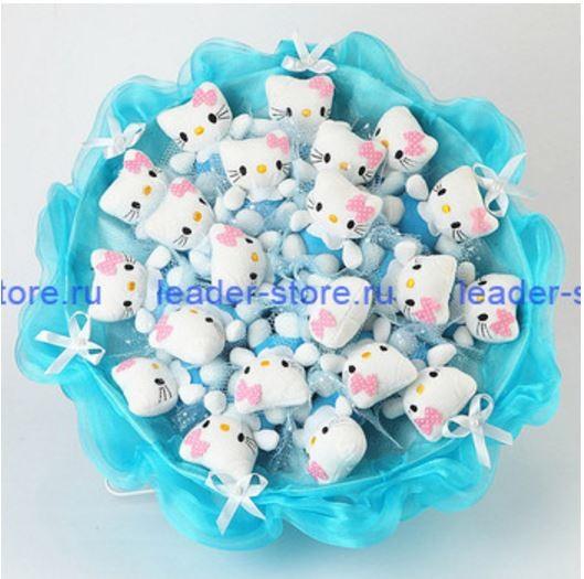 Букет из игрушек Котята в голубом