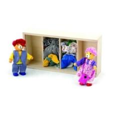 Детский игрушечный набор из дерева Переодень мишек