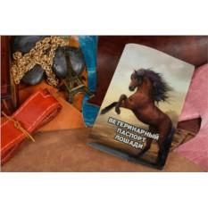 Кожаная обложка Ветеринарный паспорт лошади